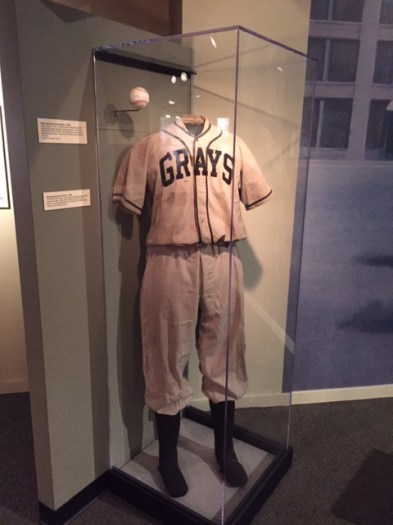 The Homestead Grays uniform worn by members of Pittsburgh's Negro League team.